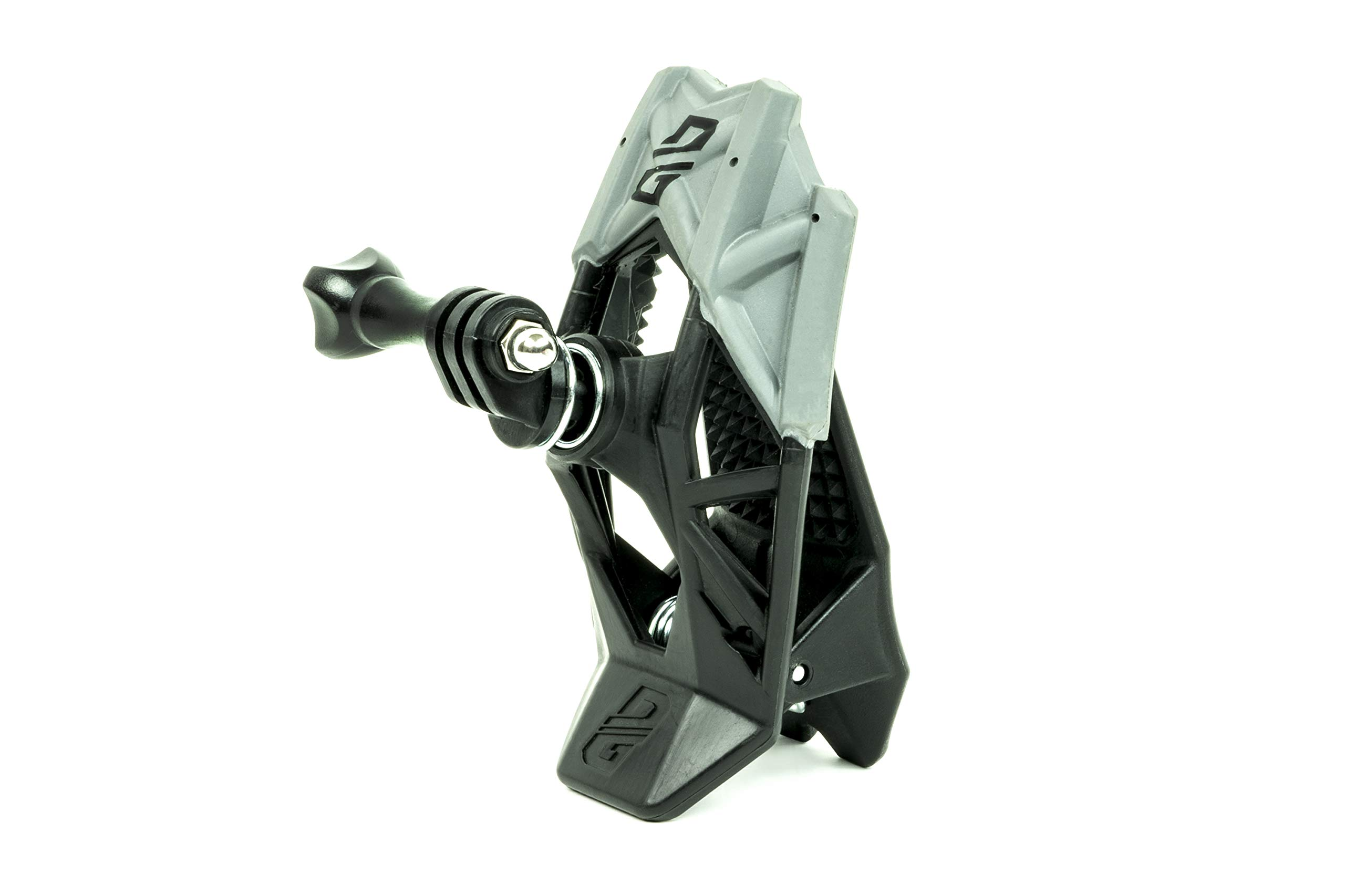 Dango Design Gripper Mount - Universal Clamp Mount for Action Cameras, Use as a Mount on Motorcycle, Powersports Helmets & More - Stealth Black
