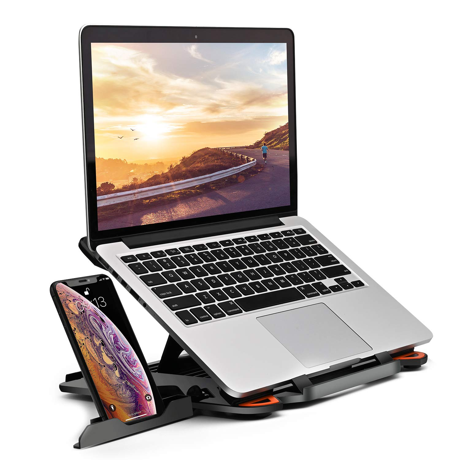 STRIFF Laptop Stand Adjustable Laptop Computer Stand Multi-Angle ...