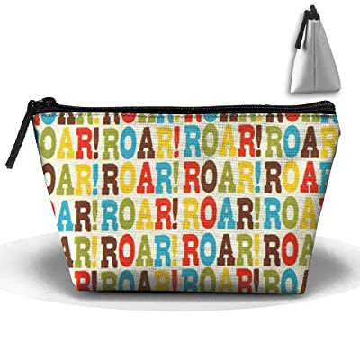 Alphabetic Printing Personality Portable Women Trapezoid Travel Bag Cosmetic Bag Receive Bag