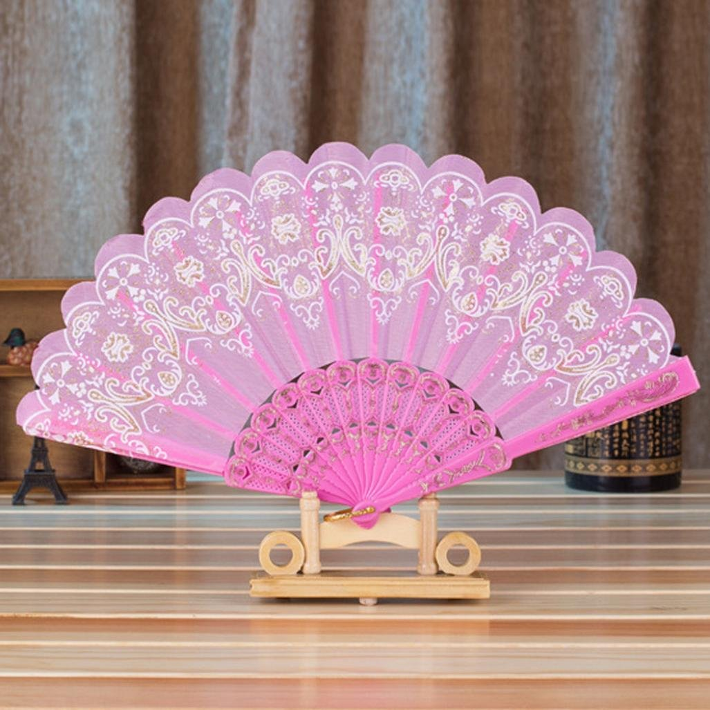 Amazon.com: Folding Hand Fan,GOODCULLER Chinese/Spanish Style Dance ...