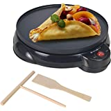 """Health and Home Electric Crepe Maker - 10""""Crepe Pan,Crepe Griddle, Non-stick Pancake Maker - Easy Clean & Includes…"""