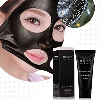 ularma Carbón Activo Máscara Facial Limpieza en profundidad Black Mud acné mitesser Entferner peelings Máscara Máscaras