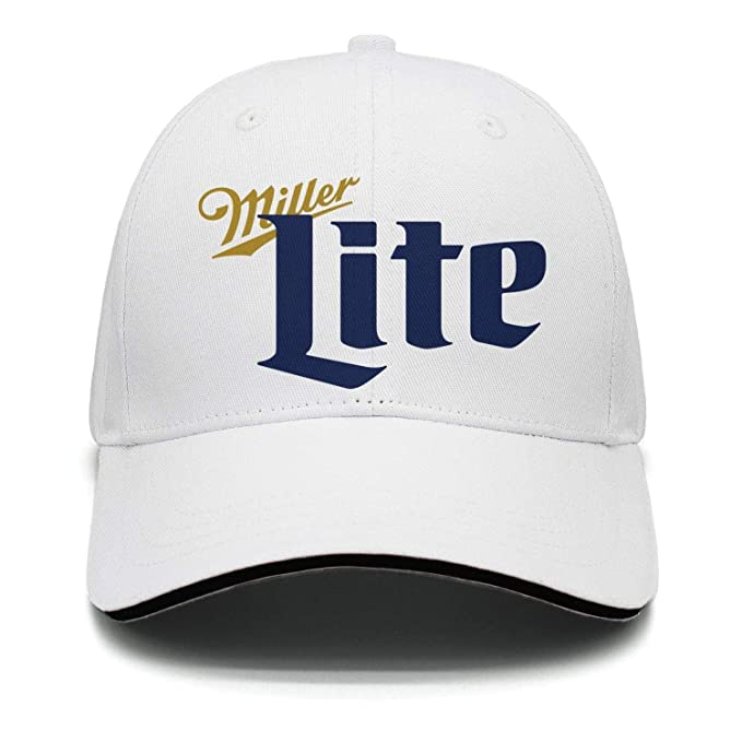 4989737f iorty rtty Cap Adjustable Sports Miller-Lite-Beer- Designer Visor Hats