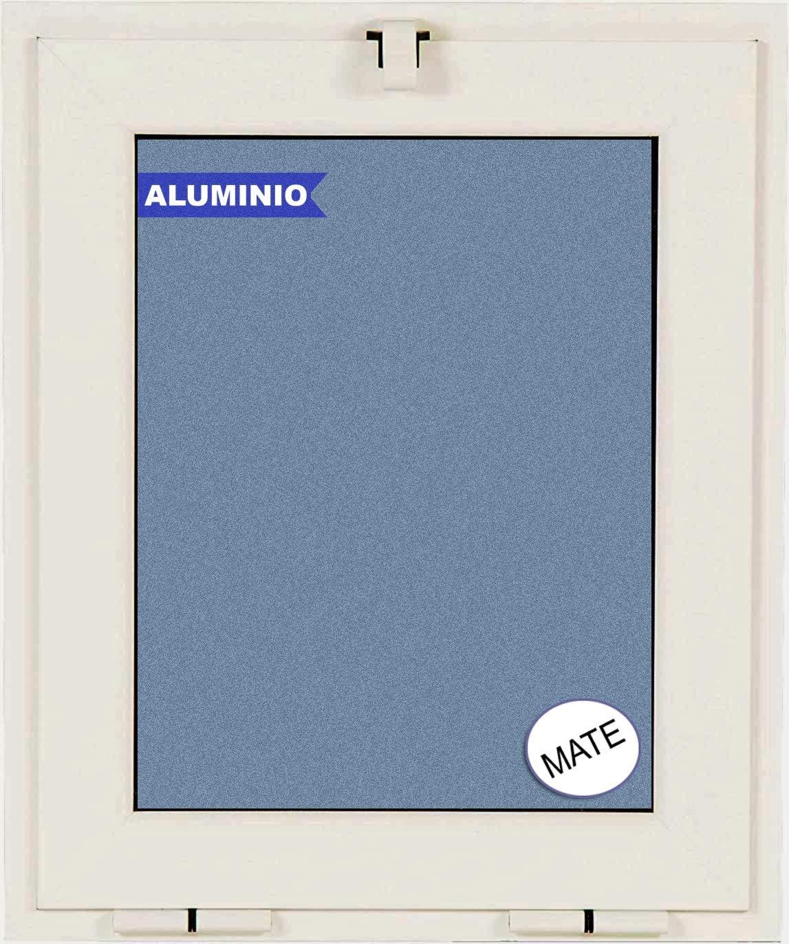 Ventana Aluminio Basculante (Golpete) 500 ancho × 600 alto 1 hoja cristal mate carglass (Climalit Mate)