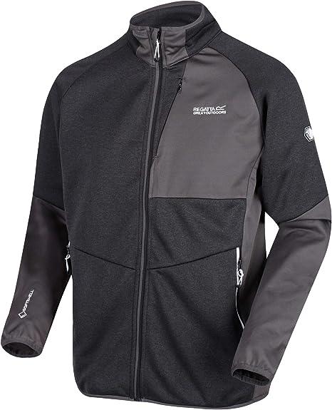 Regatta Mens Foley Hybrid Wind Resistant Full-Zip Marl Softshell Jacket Soft Shell