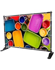 Superland 10 ft Background Stand Newest Step and Repeat Backdrop Banner Stand 8'x 8' - 10' x 8' Adjustable Backdrop Wall Trade Show BackgroundDisplay Backdrop (8'x 8' - 10' x 8')