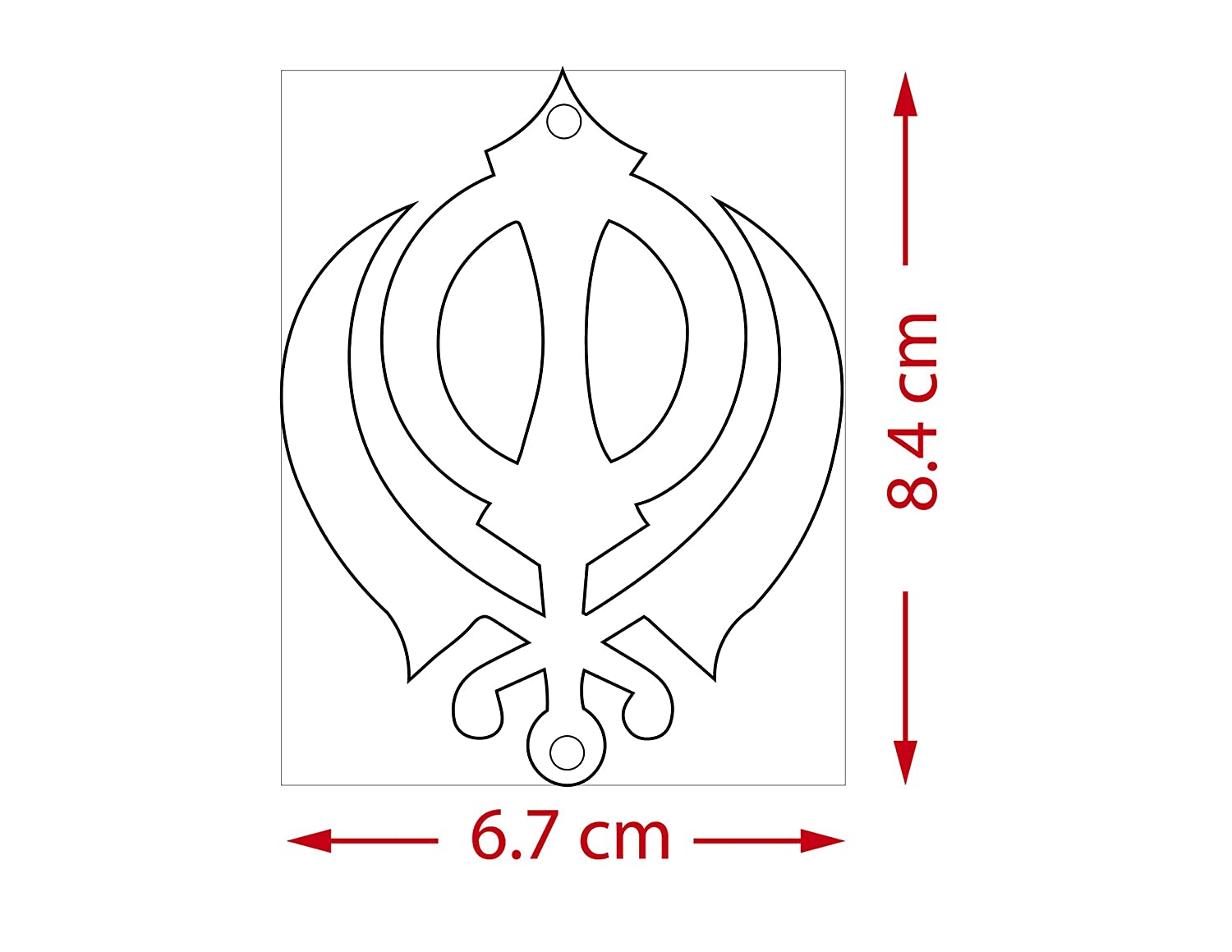 ADORAA Sikh Punjabi Khanda Symbol Rear View Mirror Car Hanging Ornament//Perfect Car Charm Pendant//Amulet Accessories for Car D/écor in Brass for Divine Blessings /& Safety//Protection