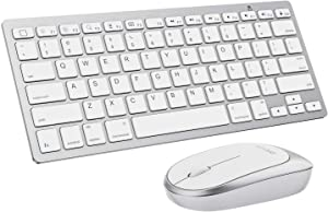 OMOTON iPad Keyboard and Mouse Combo, Wireless Bluetooth Keyboard Mouse for iPad Pro 12.9/11, iPad 8th/7th Gen, iPad Air 4, All iPad (iPadOS 13 and Above), and Other Bluetooth Enabled Devices, White