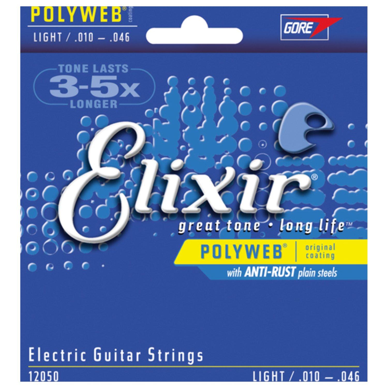 Set de 3 S de Elixir 12050 Polyweb cuerdas eléctricas de luz (10-46): Amazon.es: Instrumentos musicales