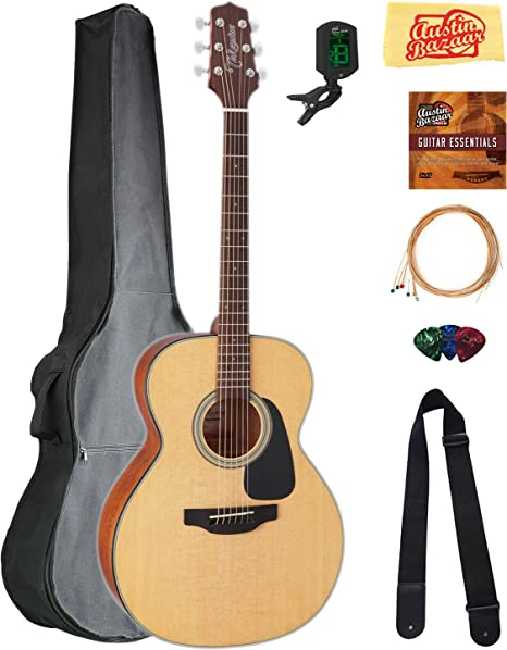 TAKAMINE gn10ns NEX guitarra acústica – Natural Satinado Bundle ...