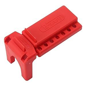 Panduit PSL-BV1 Ball Valve Lockout Device, 0.25 - 1.00-Inch Valve Size, Red