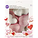 Wilton 2308-2582 7-Piece Valentine's Heart Cookie Cutter Set, Assorted
