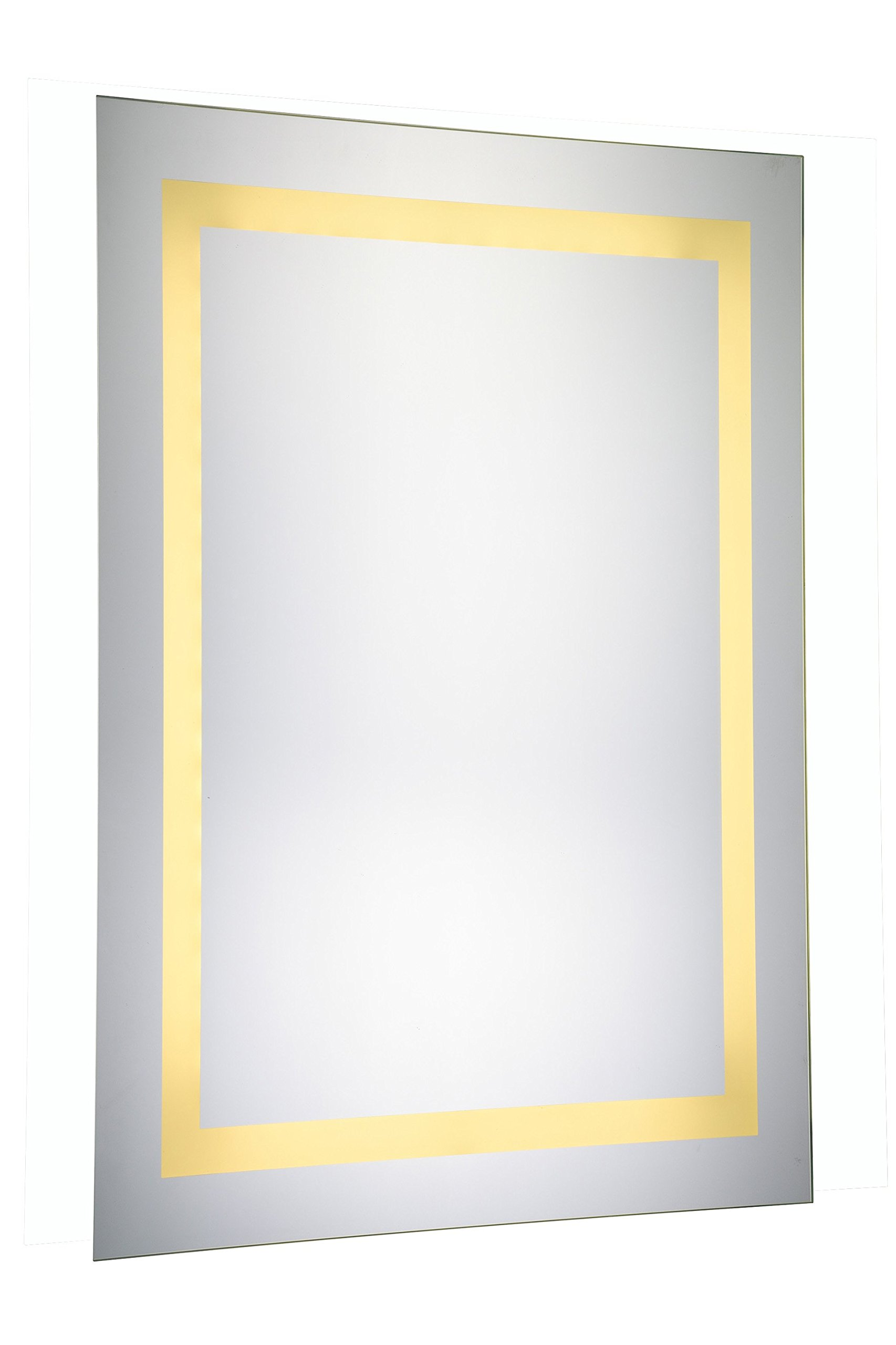 Elegant Decor Mre-6012 Dimmable 3000K LED Electric Mirror Rectangle, 20'' Width x 40'' Height