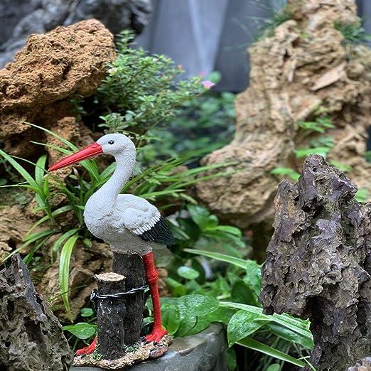 Decoración De Jardín Garceta Grúa Grúa Accesorios De Resina Impermeable Estatua del Jardín para La Yarda del Césped del Paisaje Adornos De Jardín Pool Decoration ~21 * 8 * 37CM: Amazon.es: Hogar