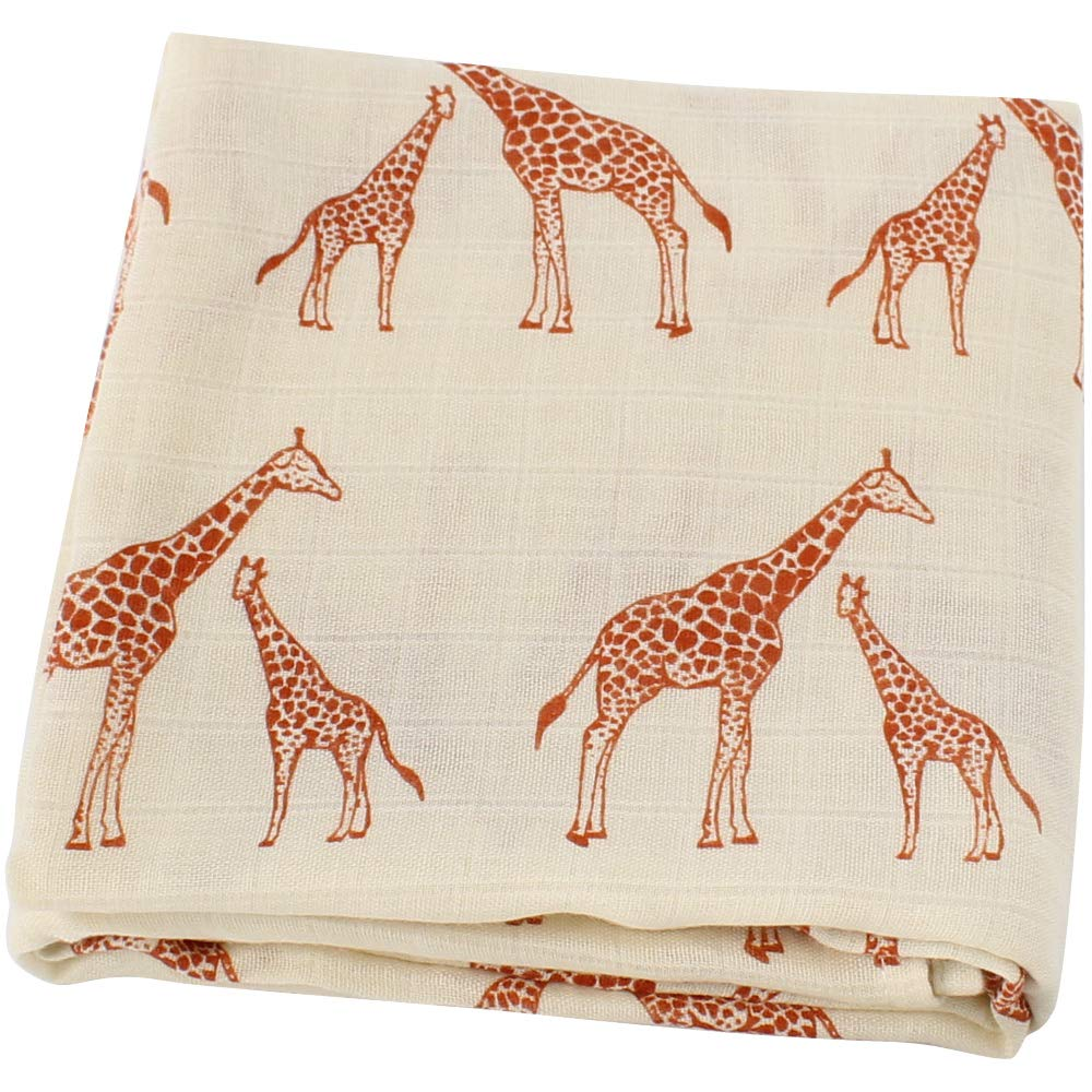 LifeTree Muslin Swaddle Blankets - 47 x 47 inches Soft Muslin Bamboo Cotton Baby Blanket for Boys & Girls