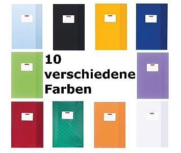 Baststruktur Farbe weiß Hefthüllen DIN A4 5 Herlitz Heftumschläge