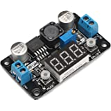 DROK LM2596 Analog Control Buck Converter DC-DC 4-32V to 1.25-30V Step-down Regulator Module 24V 12V to 5V 3A Power Inverter Volt Stabilizer with Red LED Display