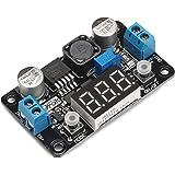 DROK 180057 LM2596 Analog Control Buck Converter DC-DC 4-32V to 1.25-30V Step-down Regulator Module 24V 12V to 5V 3A Power Inverter Volt Stabilizer with Red LED Display