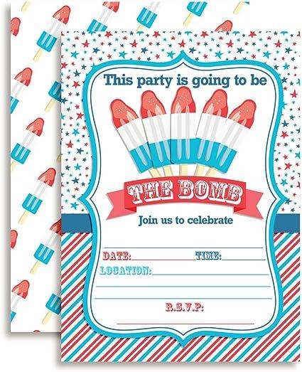 Birthday Invite Popsicle Birthday Popsicle Birthday Invitation Popsicle Birthday Invitation PLASTIC Popsicle Birthday Popsicle