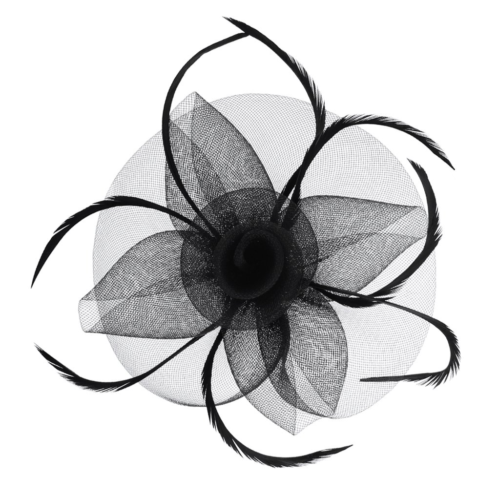 Clobeau Mesh Hair Fascinators Hat Derby Headband Party Tea Bridal Headpiece Church Hats