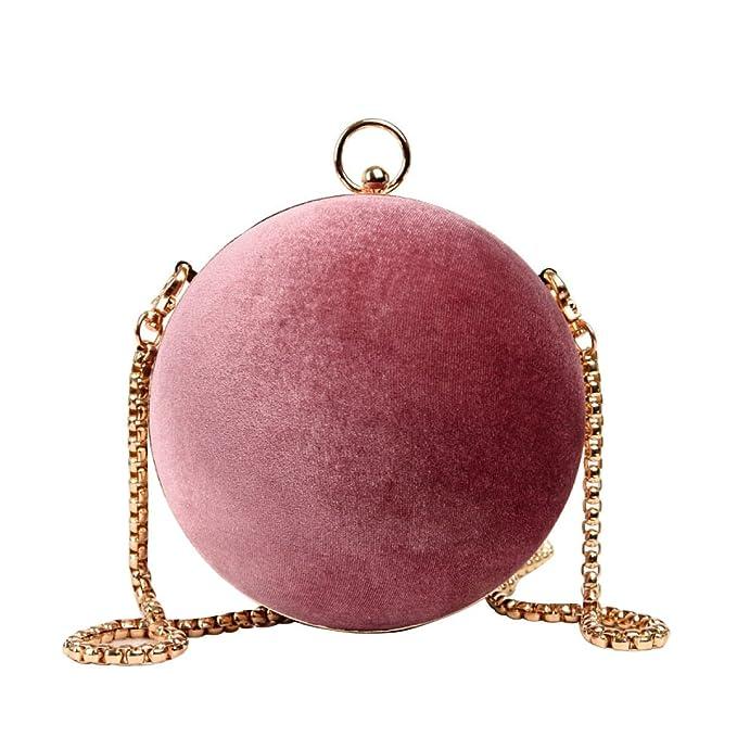 d8c667e64 BAAFG Moderno Bolso Cruzado Cuerpo De La Mujer Lindo Bolso Pequeño Bolso De Hombro  Personalidad Pequeño Paquete Redondo,Pink-OneSize: Amazon.es: Ropa y ...