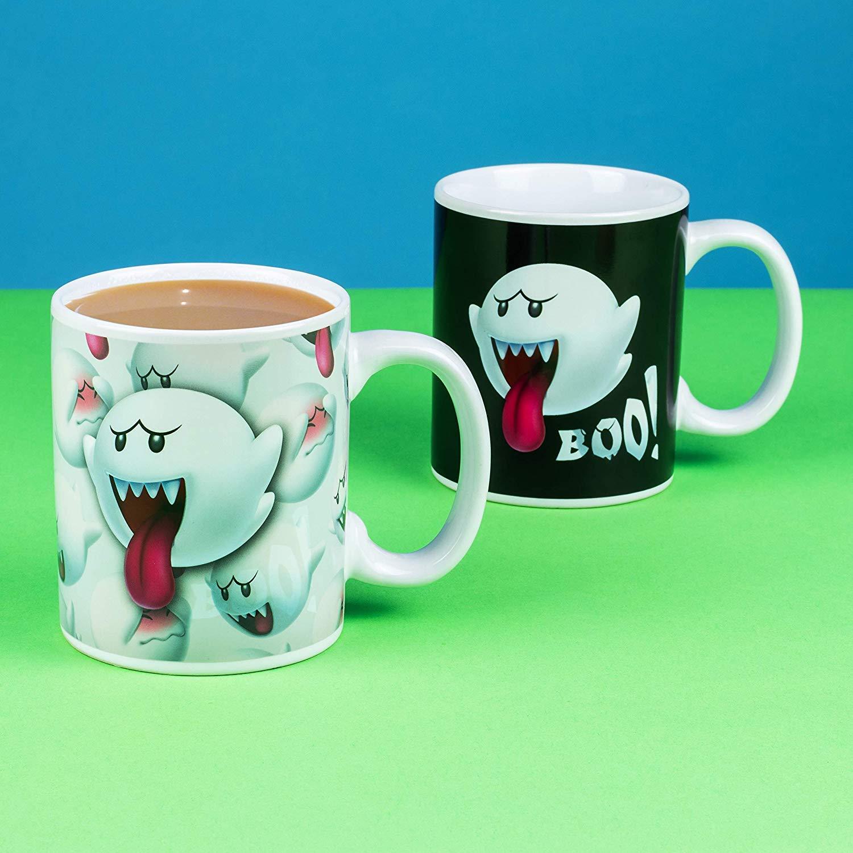 Paladone Nintendo Super Mario Bros Boo The Ghost Heat Changing Coffee Mug