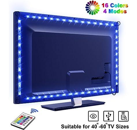 Tiras LED Iluminación 100cm de VicTsing, 300 MP RGB Retroiluminado ...