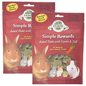 Oxbow NEW Simple Rewards All Natural Oven Baked Treats with Carrots, Dill and Timothy Hay