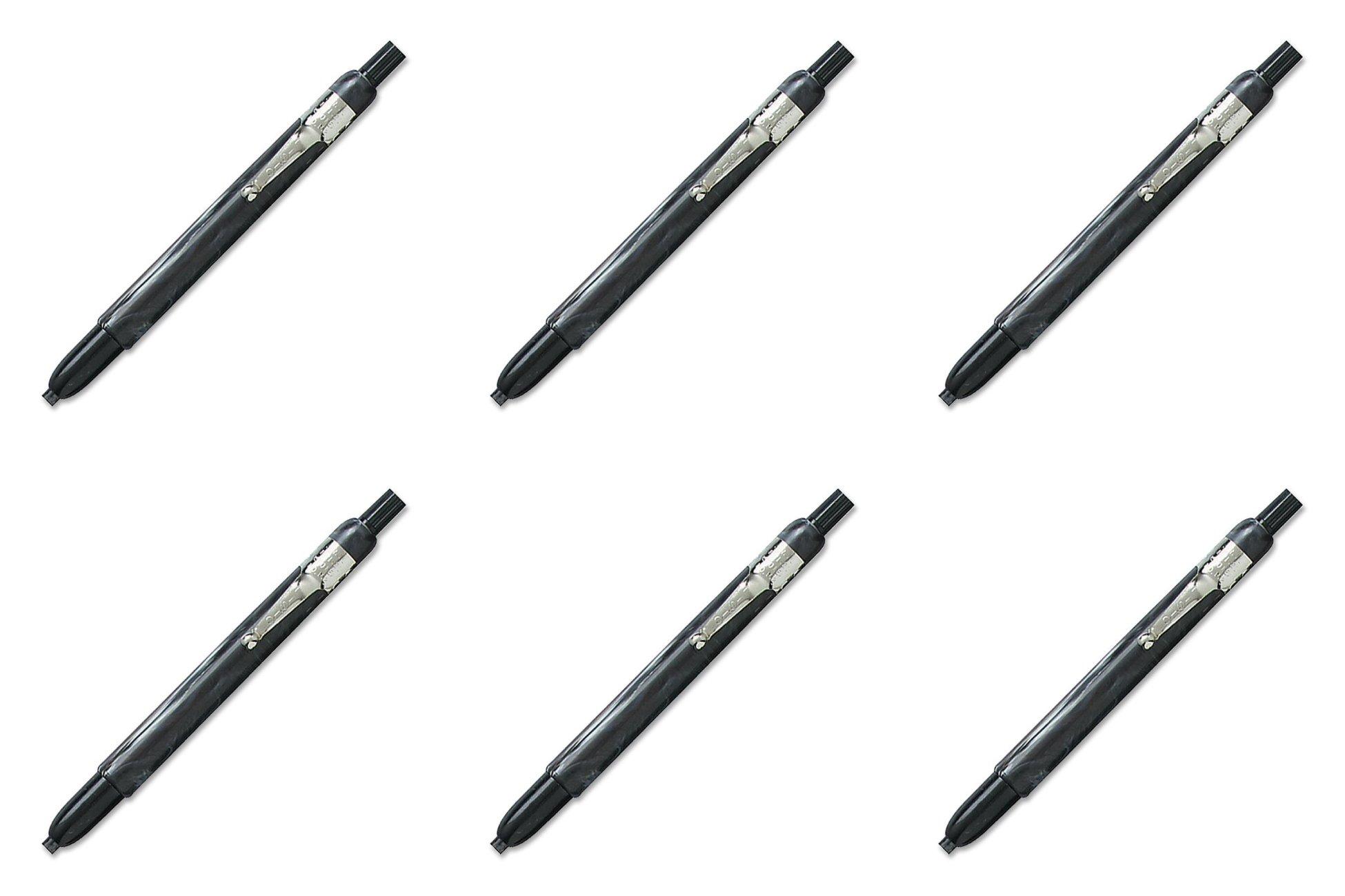 Listo 1620 Marking Pencil, Box of 12, BLACK, 6 Packs