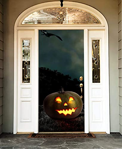 Amazon Com Banner Full Color Pumpkin Entry Door Cover Holiday