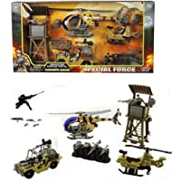 FunBlast Military Operation Battle Play Set- Pretend Play Special Force Military Play Set Toy| Fighter Jet Toy, Missile Launcher Toy, Truck Toy for Kids.