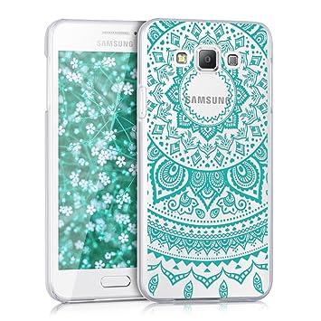 kwmobile Funda para Samsung Galaxy A3 (2015) - Carcasa de plástico para móvil - Protector Trasero en Menta/Transparente