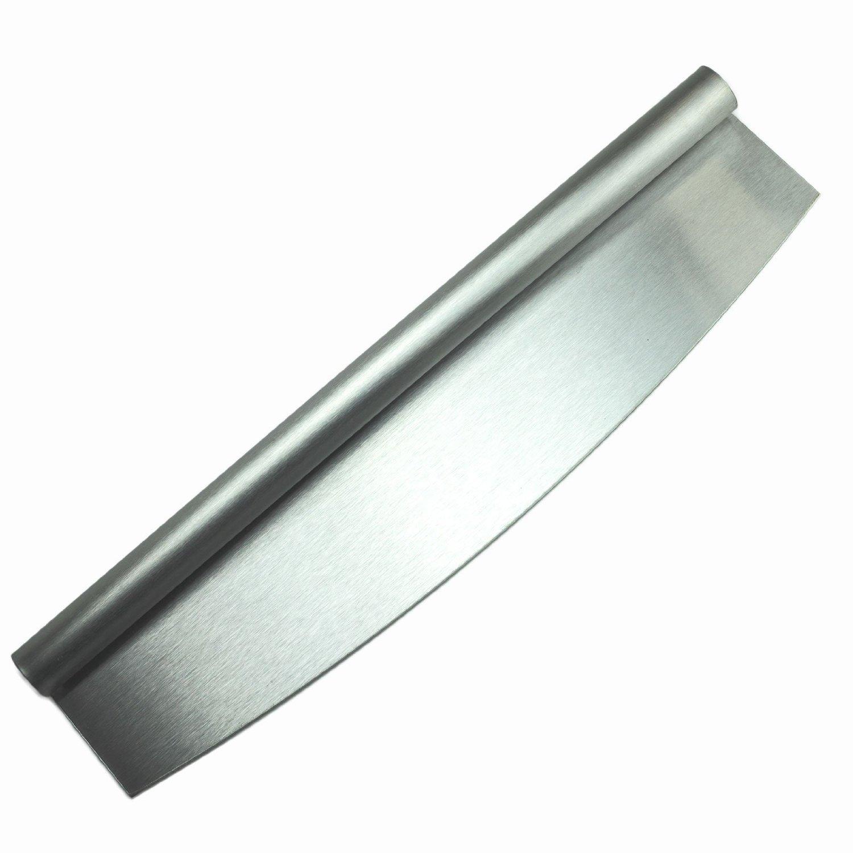 HUJI Stainless Steel Pizza Cutter - 14 inch Rocker Style (1)