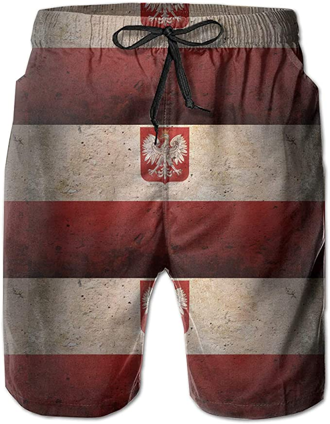 STDKNSK9 Mens Belgium American USA Flag Pride Board Shorts Swim Trunks