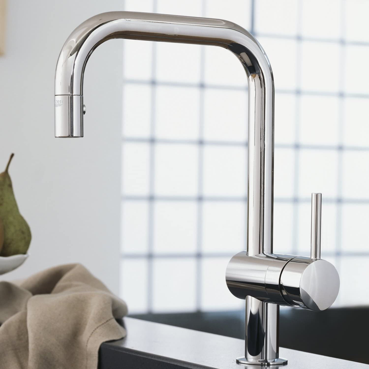 Minta Single Handle Pull Down Kitchen Faucet Touch On Kitchen Sink Faucets Amazon Com