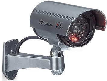 Beau Relaxdays Fausse Caméra De Surveillance Intérieur Extérieur Caméra Factice  Lampe LED Murale Sécurité Cambrioleur Voleur,