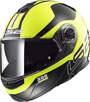 LS2 Klapphelm FF325 STROBE schwarz matt Motorradhelm mit Sonnenblende Helm