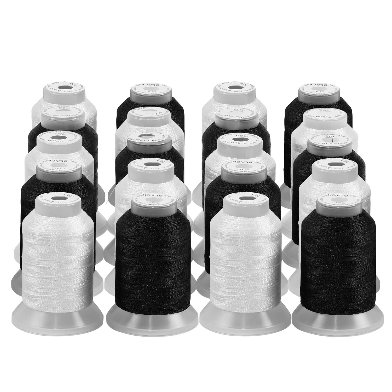 ThreadNanny 10 Black Cones Poly Machine Embrordery Thread