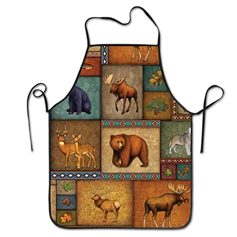 BEAR /& MOOSE 1 NEW  hand-crafted Adult Apron