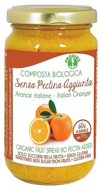 Probios Compota para Untar de Naranja, con Azúcar de La Fruta - Paquete de 6
