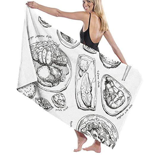 Gebrb Toallas de baño, Unisex Beach Towel, Womens Bath ...