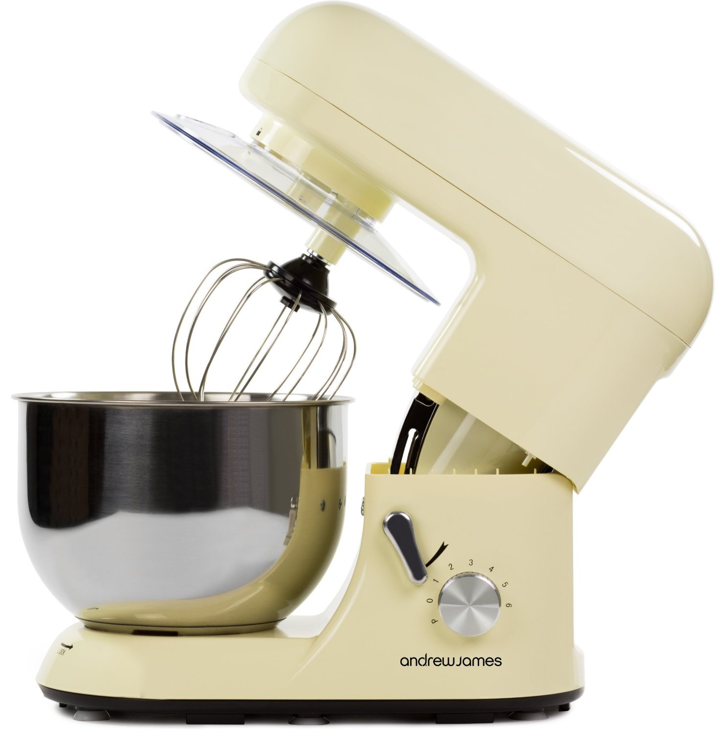 andrew james electric food stand mixer in classic cream splash