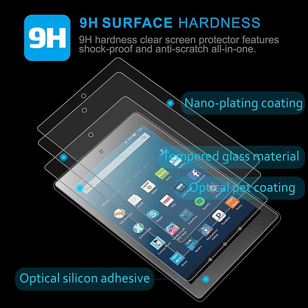 Einfache Installation Bubble frei 2/Pack / zonefoker HD 10/Tablet geh/ärtetem Glas Displayschutzfolie Kratzfest Anti-Fingerprint 7. Generation, 2017/Release Lebensdauer Ersatz /