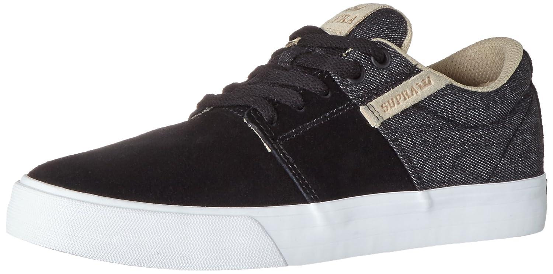 Supra Stacks Vulc II Sneaker B01IFLRY18 US men's 8.5|Black Wash/White