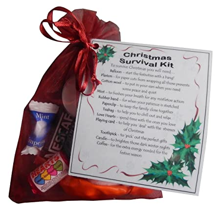 Christmas survival kit great stocking filler or secret santa gift christmas survival kit great stocking filler or secret santa gift xmas gift stocking negle Choice Image