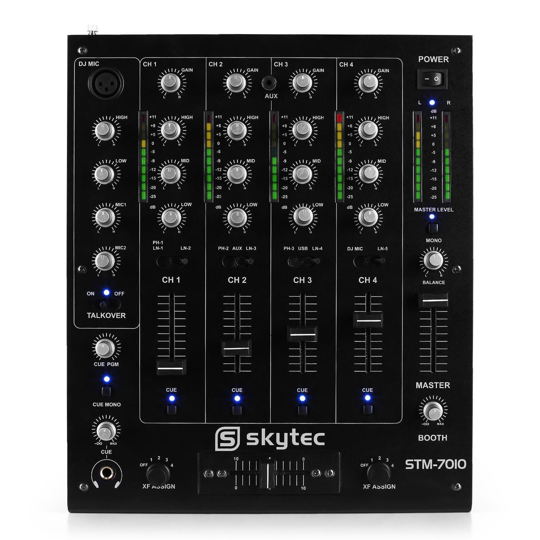 Skytec STM-7010 Mezclador DJ 4 canales USB MP3 EQ: Amazon.es ...