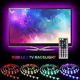 SOLMORE LED TV Retroilluminazione 2M RGB USB Posteriore di Illuminazione Kit 44 key 5 Modalità Dinamica Impermeabile Bias Illuminazione per HDTV da 40 a 60'' LED Luce di Striscia - Ridurre l'effetto occhi fatica e aumentare la nitidezza delle immagini