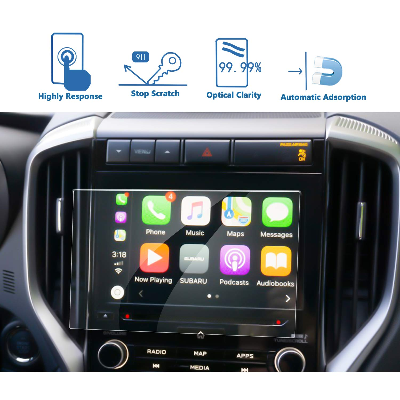Tempered Glass Infotainment Center Touch Display Screen Protector Anti Scratch High Clarity LFOTPP 2018 Subaru Crosstrek Impreza Starlink 6.5 Inch Car Navigation Screen Protector, 9H