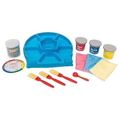 RoseArt Washable Sidewalk Chalk Paint Rainbow Color Mixing Set: Toys & Games