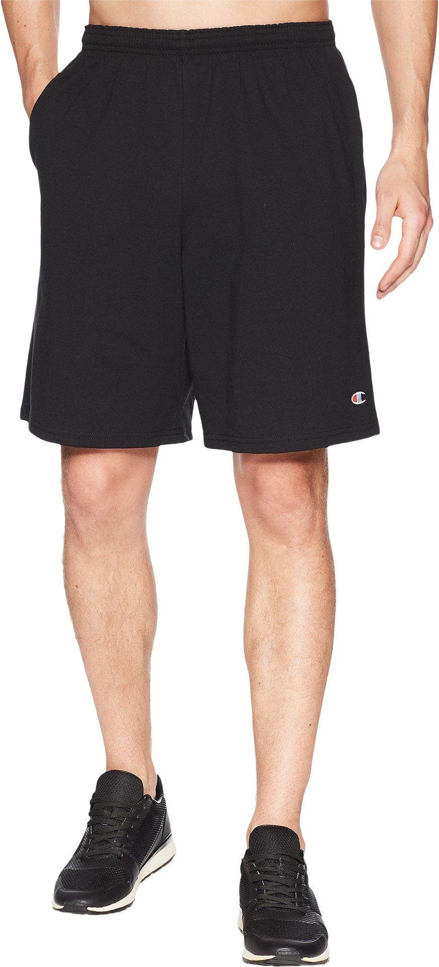 Champion Men's Jersey Short With Pockets, Black, Small